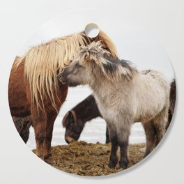 Iceland horses Cutting Board