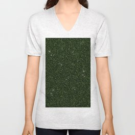 C13D Green Glitter Unisex V-Neck