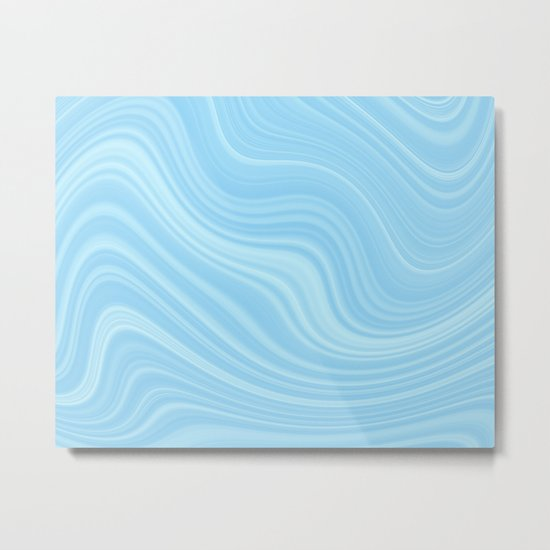 Blue wave abstract. Metal Print