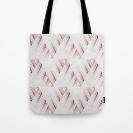Abstract geometric pattern.Pinkish beige striped triangles . Tote Bag