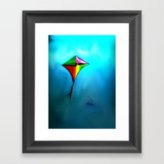 FLYING HIGH AND PROUD Framed Art Print