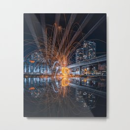 Electric Spider Metal Print