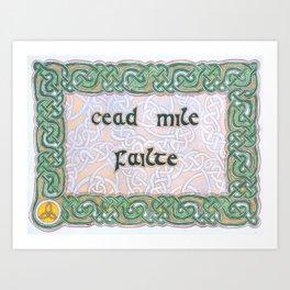 Cead mile Failte Blessing Art Print
