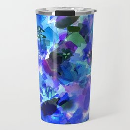 Blue Tulip Floral Travel Mug