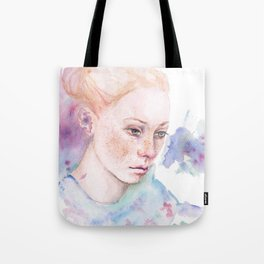 Waterolor portrait of a girl Tote Bag