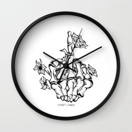 Middle Fingers Up Wall Clock