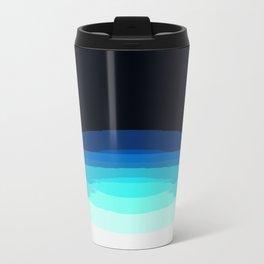 Aqua Black Ombre Travel Mug