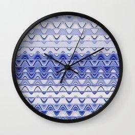 Aztec pattern light blue Wall Clock