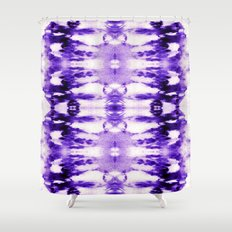 Tie Dye Purples Shower Curtain