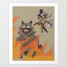 Feel the Burn! Art Print