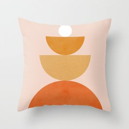 Abstraction Circles Balance Modern Minimalism 007 Throw Pillow