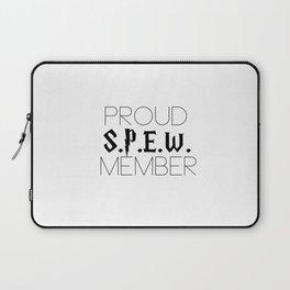 proud s.p.e.w. member // white Laptop Sleeve