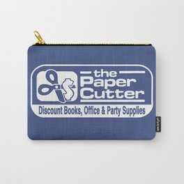 the Paper Cutter Blue Carry-All Pouch