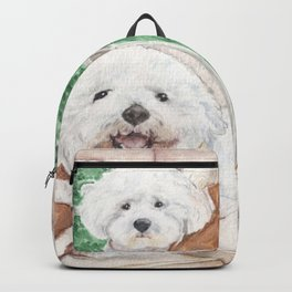 Two Bichons and A Friend Backpack
