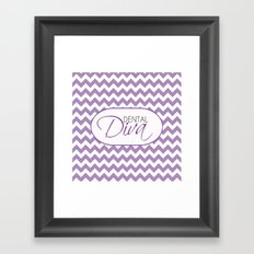 Dental Diva Framed Art Print