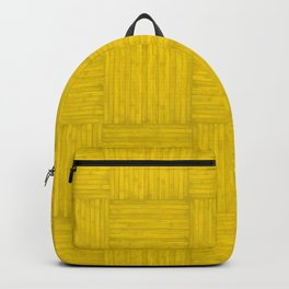 Gold Yellow Faux Bois Wood Pattern Backpack