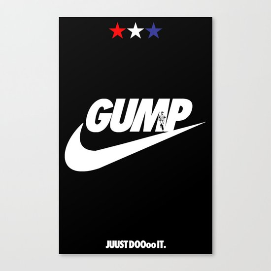 Gump- JustDoIt Canvas Print