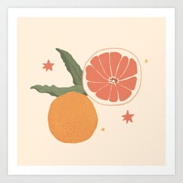 Fresh Citrus Art Print