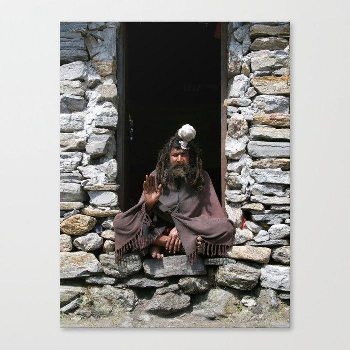 Holy man Canvas Print