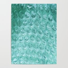 Aqua Bubble Wrap Poster