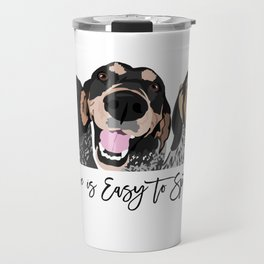 Love is Easy to Spot Bluetick Coonhound Travel Mug