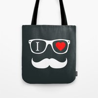 hipster Tote Bags featuring Hipster by Hipster