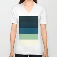 nautical V-neck T-shirts featuring Nautical Stripes by SimplyChic