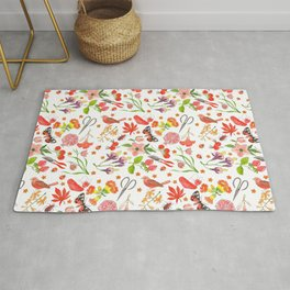 Red Repeat Gardening Rug