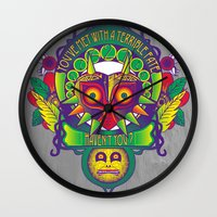 majora Wall Clocks featuring Majora Nouveau by Mareve Design