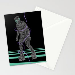 Roller Skating Stationery Cards