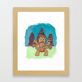 Cambodia Cat Framed Art Print