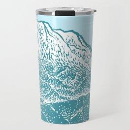 Distant Snow- 遠雪 : linocut Travel Mug
