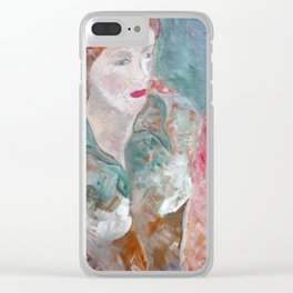 Woman in green Clear iPhone Case