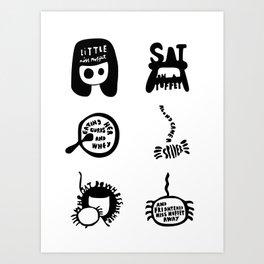 Little Miss Muffet Art Print