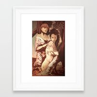 pagan Framed Art Prints featuring Pagan Tattoos by IzzyStanic