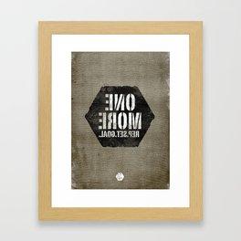 One More. Framed Art Print
