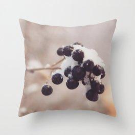 A misty winter morning Throw Pillow