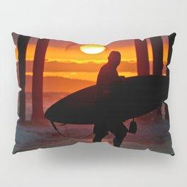 Huntington Beach Pier / Surfer Sunset Pillow Sham