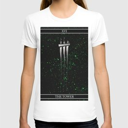 A Tarot of Ink Major Arcana XVI The Tower T-shirt