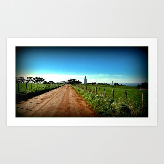 Road to Table Cape Lighthouse Art Print