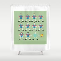 barcelona Shower Curtains featuring barcelona by skip ad