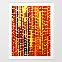 Ranunculus Fields II (inspired by Alma Thomas) Art Print