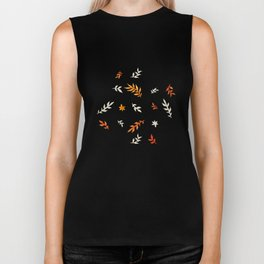 Watercolor autumn Biker Tank