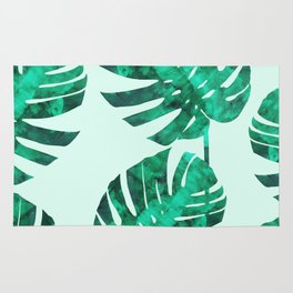 Composition tropical leaves XIX Rug