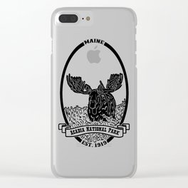 Acadia Emblem Clear iPhone Case