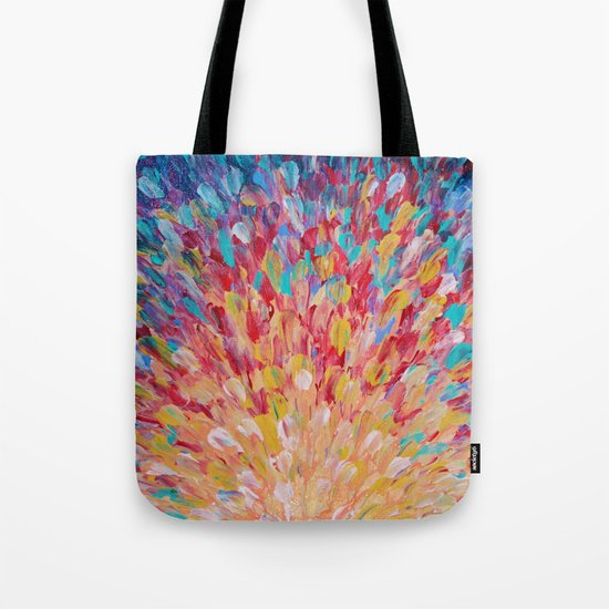 SPLASH - WOW Dash of Cheerful Color, Bold Water Waves Theme, Nature Lovers Modern Abstract Decor Tote Bag