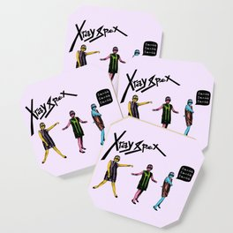 Poly Styrene of X-Ray Spex Coaster