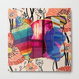 rainbow print flower Metal Print