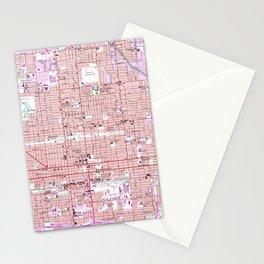 Vintage Map of Phoenix Arizona (1952) 2 Stationery Cards