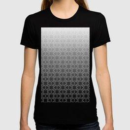 Geometry Star Pattern Black White T-shirt